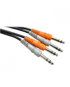 Hosa CSS-202 Dual 6.3mm TRS - Dual 6.3mm TRS Kabel 2m