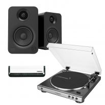 Audio Technica LP120XUSB (Black) + Kanto YU (Black) Bundle