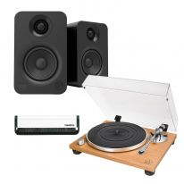Audio Technica AT-LPW30TK + Kanto YU (Black) Bundle