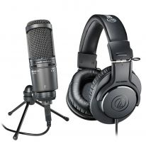 Audio Technica AT 2020 USB+ + Audio Technica ATH-M20x Bundle