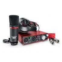 Focusrite Scarlett 2i2 Studio Pack 2nd Gen - USB Lydkort, Mikrofon, Hovedtelefoner, Kabler