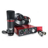 Focusrite Scarlett Solo Studio Pack 2nd Gen - USB Lydkort, Mikrofon, Hovedtelefoner, Kabler