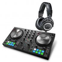 Native Instruments Traktor Kontrol S2 MK3 + Audio Technica ATH-M50x (Black)