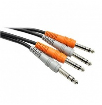 Hosa CSS-204 Dual 6.3mm TRS - Dual 6.3mm TRS Kabel 4m