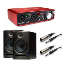 Presonus Eris E8 (Pair) + Focusrite Scarlett 2i2 (2nd Generation) Bundle